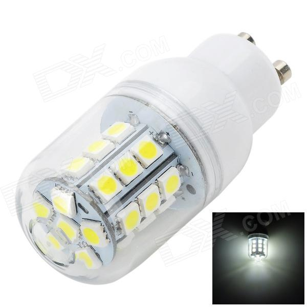 Marsing GU10 3.4W 300LM 6500K 27-5050 SMD LED White Light Corn Lamp - White + Yellow (AC 220~240V)