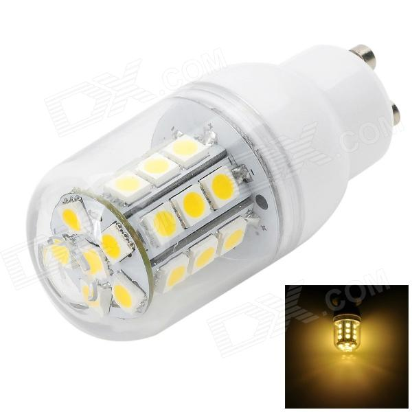 Marsing GU10 3.4W 300LM 3000K 27-5050 SMD LED Warm White Light Corn Lamp - White (AC 220~240V)