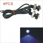 Kapeier 12V 1.5W 18mm Car Blue LED Eagle Eye Daytime Running Light Reverse Lamp Bulb - Black (4PCS)
