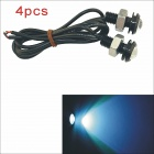 Kapeier 12V 1.5W 18mm Ice Blue LED Eagle Eye Daytime Running Light Reverse Lamp Bulb - Black (4PCS)