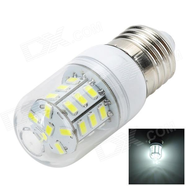 Marsing E27 5W 500LM 6500K 27-5730 SMD LED White Light Corn Lamp - White + Yellow (AC 220~240V)