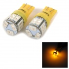 SENCART T10 2.5W 10lm 590nm 5730 SMD LED Yellow Light Lamp for Car / Motorcycle (DC 12~16V / 2PCS)