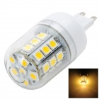 Marsing G9 3.5W 350LM 3500K 30-5050 SMD LED Warm White Light Corn Lamp - White +Yellow (AC 220~240V)