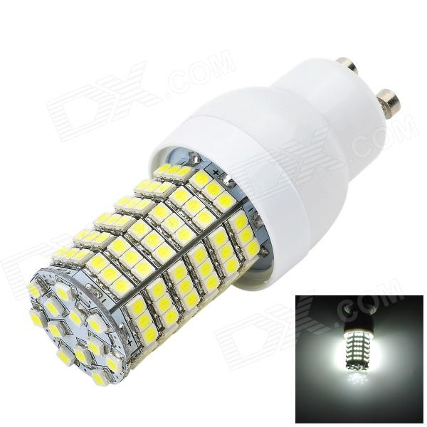 Marsing GU10 4W 400lm 6500K 138-3528 SMD LED White Light Corn Lamp - White + Yellow (AC 220~240V)