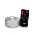 ADIN Stronger Vibration Resonance Speaker w/ FM / TF / USB 2.0 + Remote Control - Silver