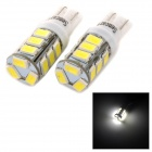 SENCART T10 4W 140lm 6500K 5730 SMD LED White Light Lamp for Car / Motorcycle (DC 12~16V / 2PCS)