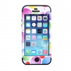 CM01Colorful Bubble Pattern Protective Silicone Case for IPHONE 5 / 5S - White + Black
