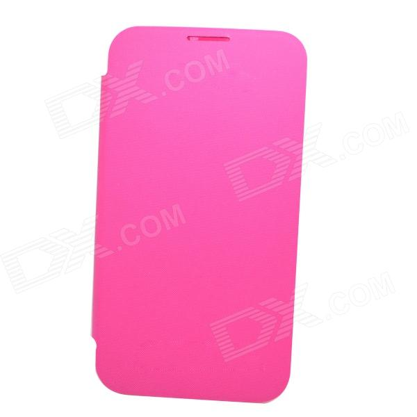 Protective PU Leather Case w/ Plastic Back Case for Samsung Galaxy Note 2 - Pink cm001 3d skeleton pattern protective plastic back case for samsung galaxy s4