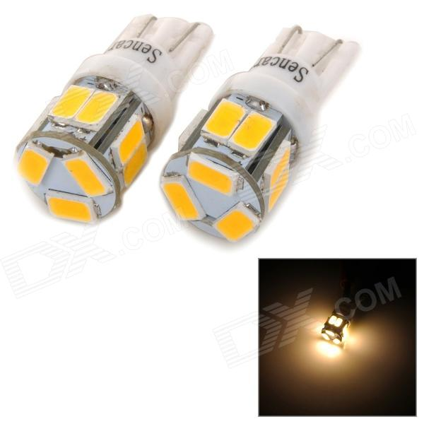 SENCART T10 3W 70LM 3500K 5730 SMD LED Warm White Light Car / Motorcycle Lamp (DC 12~16V / 2PCS)