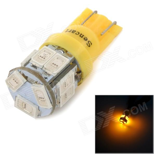 SENCART T10 2.5W 10lm 590nm 5730 SMD LED Yellow Light Lamp for Car / Motorcycle (DC 12~16V)