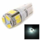 SENCART T10 3W 80lm 6500K 5730 SMD LED White Light Lamp for Car / Motorcycle (DC 12~16V)