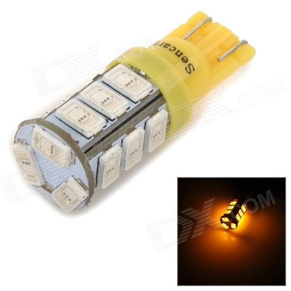 SENCART T10 3W 10lm 589nm 5730 SMD LED Yellow Light Lamp for Car / Motorcycle (DC 12~16V)