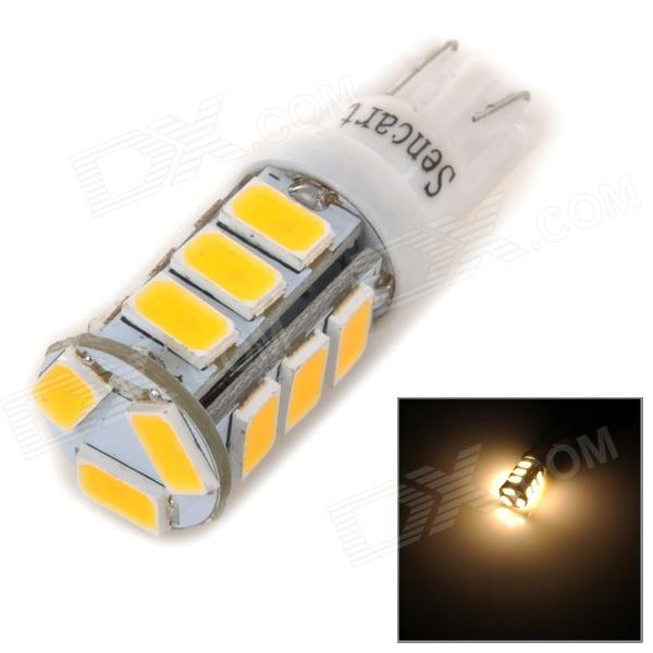 SENCART T10 4W 130lm 3500K 5730 SMD LED Warm White Light Lamp for Car / Motorcycle (DC 12~16V)