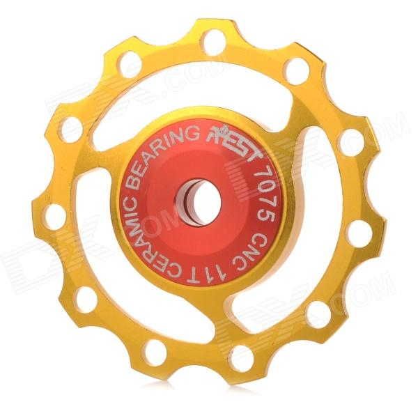 AEST YPU09A-14 Bike Bicycle Ultra Light 3-Axle 11T Ceramic Wheels Rear Derailleur Pulley - Golden
