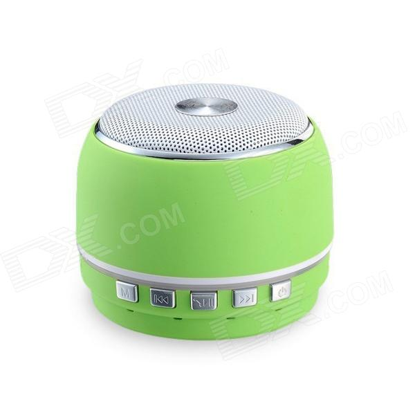 BT1008 Wireless Bluetooth Speaker w/ Phone Calling, TF, FM, Micro USB, Video - Green sdy 021 wireless bluetooth v3 0 speaker w fm tf micro usb usb alarm clock black silver