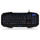 JUEXIE X200 USB 2.0 104-Key Wired Gaming Keyboard w/ Backlight - Black + Blue