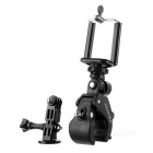 DULISIMAI 3-in-1 Bicycle / Motorcycle Holder + GoPro Adapter + Mobile Phone Holder Set - Black