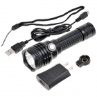 NEW-B08 800lm 5-Mode White Light Rechargeable Flashlight w/ XM-L2 - Black (1 x 18650)