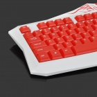 JUEXIE JK-103 USB 2.0 104-Key Water Wired Gaming clavier résistant - Rouge + blanc