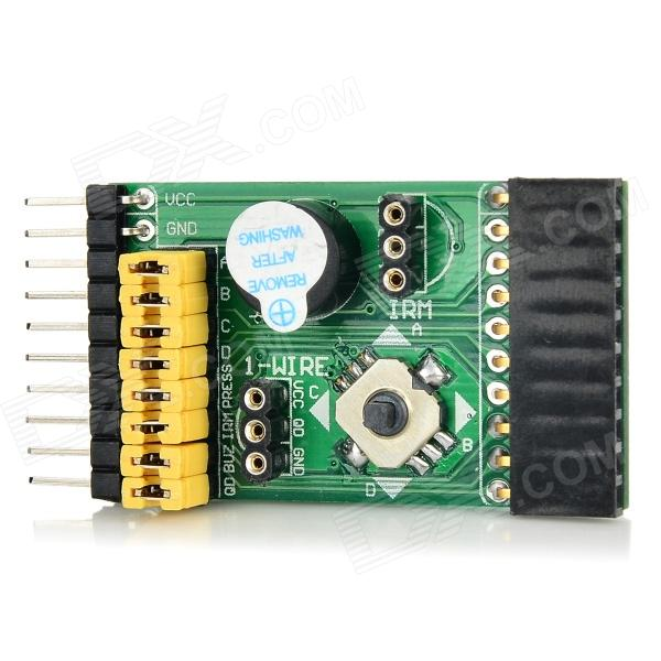 Waveshare IR Receiver + Temperature Sensor + Five-way Joystick + Buzzer Module - Green + Black