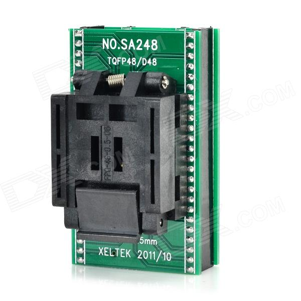 все цены на  SA248 QFP48 to DIP48 IC Programmer Socket Adapter - Black + Green  онлайн