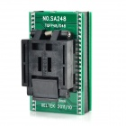 SA248 QFP48 to DIP48 IC Programmer Socket Adapter - Black + Green