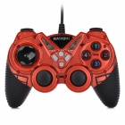 WATASHI WS-Y1 USB 2.0 Wired Dual Vibration Gaming Controller Joypad Gamepad Joystick - Black + Red