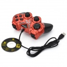 Watashi WS-Y1 USB 2.0 Wired Dual Vibration Gaming Controller joypad Gamepad Joystick - Sort + rød