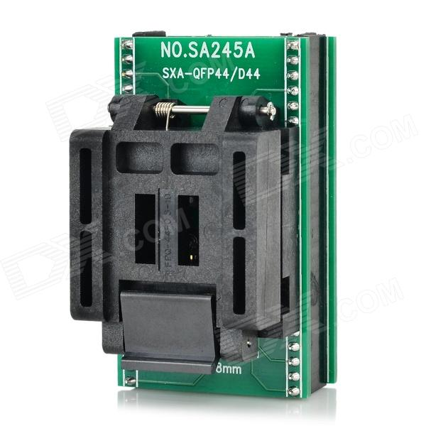QFP44 to DIP44 IC Programmer Socket Adapter - Green + Black module wavesahre qfn24 to dip24 b plastronics ic test socket programmer adapter 0 5mm pitch for qfn24 mlf24 mlp24 package