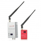 1.2GHz 900mW Wireless Video Transmitter Receiver Modules Kit w/ Antennas - Red + Silver