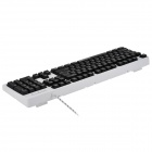 JUEXIE X100 USB 2.0 104-Key Wired Gaming Keyboard w/ 3-color Backlight - Black + White
