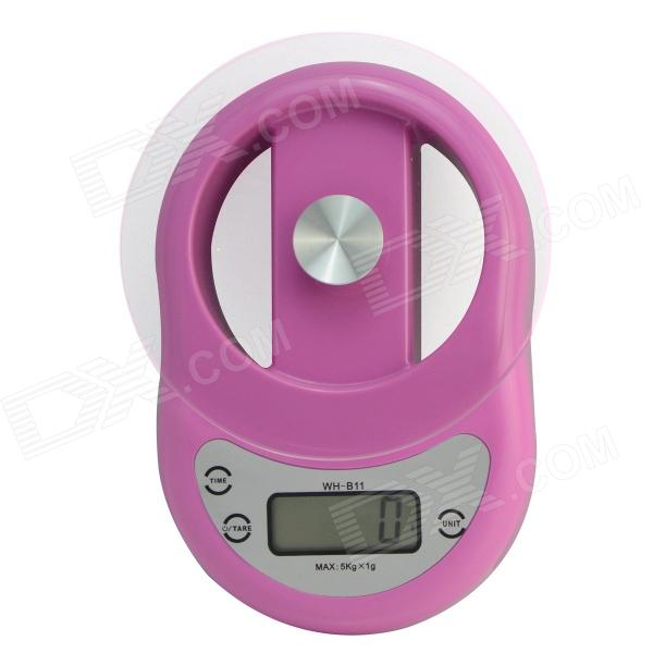 WH-B11 1.7 LCD Kitchen Digital Electronic Balance Scale w/ Countdown - Pink (11lbs / 5kg)