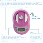 "WH-B11 1.7"" LCD Kitchen Digital Electronic Balance Scale w/ Countdown - Pink (11lbs / 5kg)"