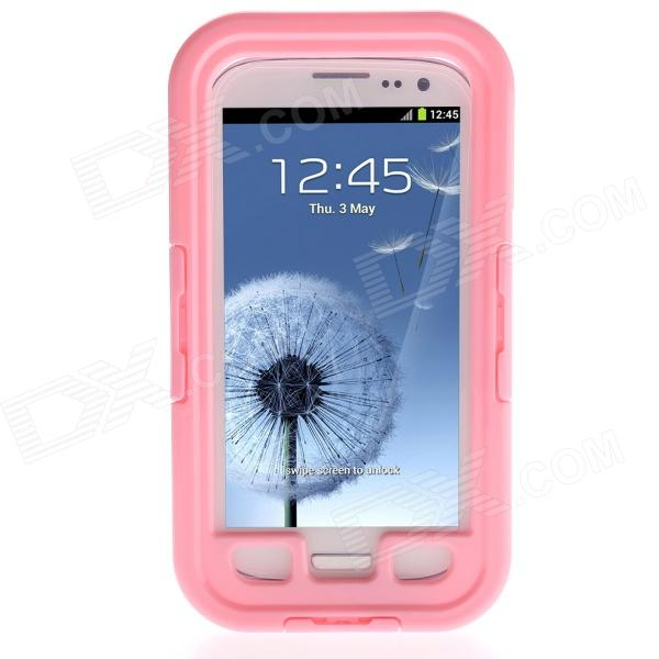 Waterproof Shockproof Snowproof Case for Samsung Galaxy S3 i9300 - Pink ultra thin waterproof dirtproof shockproof snowproof protective case for samsung galaxy s3 white
