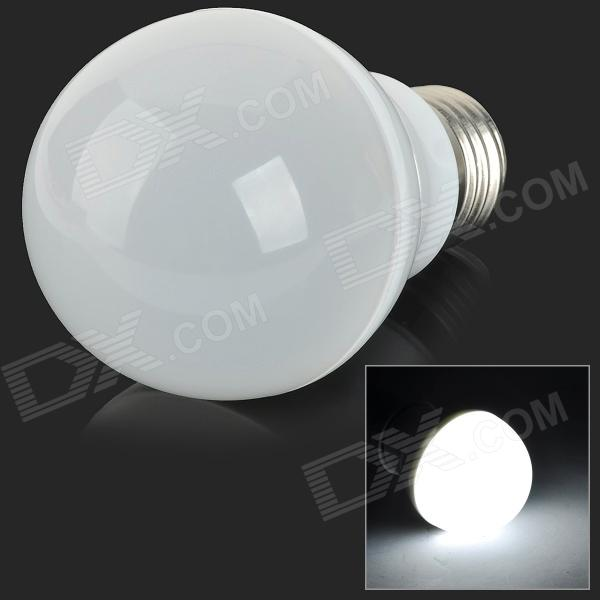 E27 6W 375lm 6000K 12-SMD 5630 LED RGB Light Dimmable Bulb - White + Silvery Grey (AC 220~240V)
