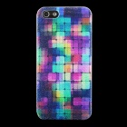 Stylish Mosaic Pattern Matte PC Back Case for IPHONE 5 / 5S - Multicolored