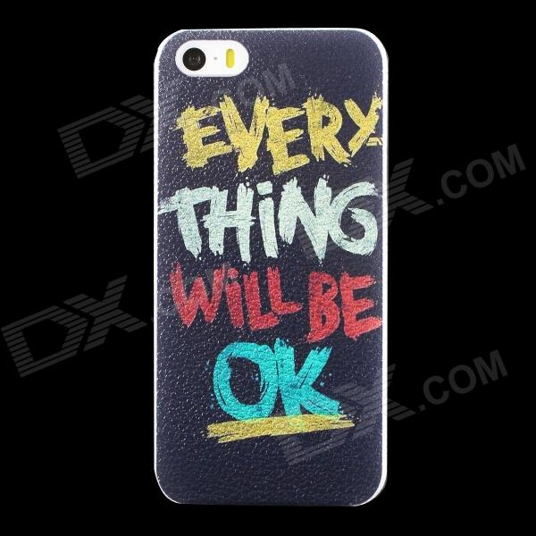 Stylish EVERYTHING Will BE OK Pattern Matte PC Back Case for IPHONE 5 / 5S - Black + Multicolored presidential nominee will address a gathering