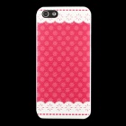 Stylish Polka Dot Pattern Matte PC Back Case for IPHONE 5 / 5S - Red + White