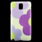 Flowers Pattern Cute Hard Back Case Cover for Samsung Galaxy Note 3 - Purple + Multicolored