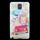 Animal Car Pattern Hard Back Case Cover for Samsung Galaxy Note 3 - Multicolor