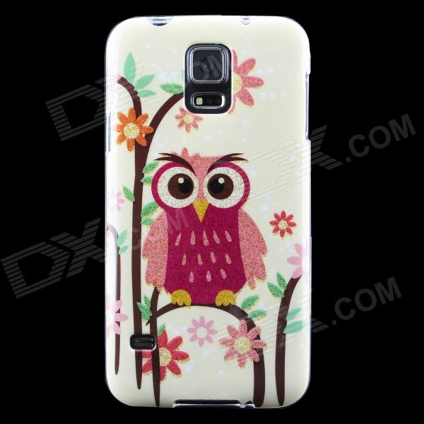 все цены на Owl Pattern Protective TPU Back Case for Samsung Galaxy S5 - Light Yellow + Multicolor онлайн
