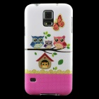 Owls Pattern Protective TPU Back Case for Samsung Galaxy S5