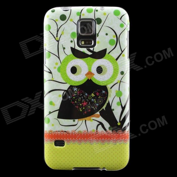 все цены на Owl Pattern Protective TPU Back Case for Samsung Galaxy S5 - Green + Black онлайн
