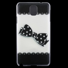 Bowknot Pattern Protective Hard Back Case Cover for Samsung Galaxy Note 3 - Black + White