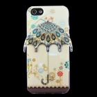 Peacock Feather 3D Umbrella Pattern Protective TPU Back Case for IPHONE 5 / 5S - Beige