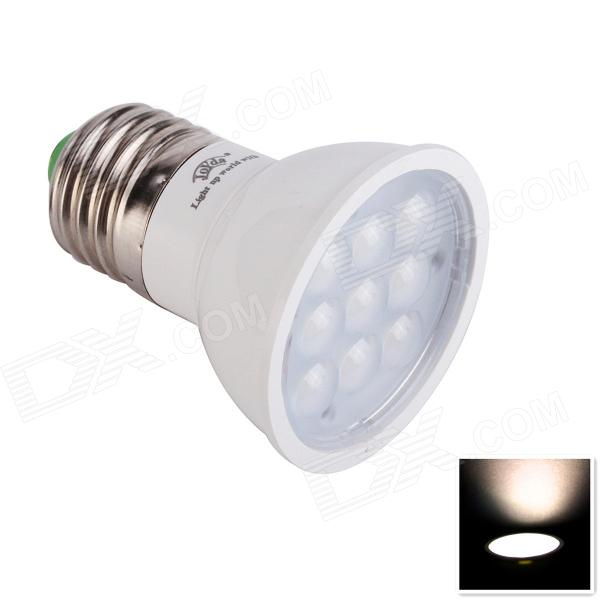 JoYda E273ww E27 3W 312lm 3200K 9-SMD 2936 LED Warm White Light Spotlight - White (AC 85~245V)