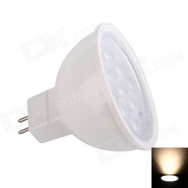JoYda MR163ww MR16 3W 312lm 3200K 9-SMD 2936 LED Warm White Light Spotlight - White (DC 12V)
