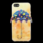 Fruit 3D Umbrella Pattern Protective TPU Back Case for IPHONE 5 / 5S - Orange + Blue + Multicolored