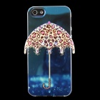 Leopard 3D Umbrella Pattern Protective TPU Back Case for IPHONE 5 / 5S - Blue + Multicolored