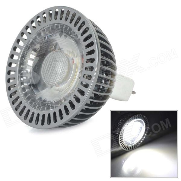 GU074 GU5.3  5W 300lm 6000K 1-COB LED White Light Lamp - White + Silver (DC 12~24V)